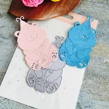 aliexpress com buy cute brown bear scrapbook diy album card