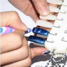 design fã r nã gel diy design cat magic nail magnetic pen snake skin uv gel