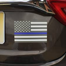 American Flag Magnet Thin Blue Line American Flag Magnet Decal Heavy Duty For Car