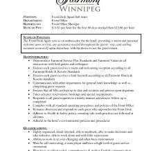 front desk resume sle hotel front desk resume exles printable of skills sle cover
