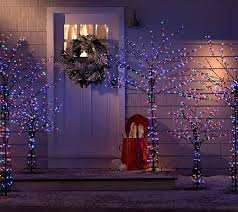 best indoor christmas tree lights santa s best 4 all season prelit brown wire tree with rgb