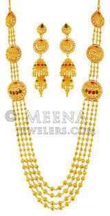 gold rani haar sets 22k gold rani haar stls18256 22k gold rani haar necklace and
