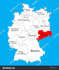 Dortmund Germany Map by Sachsen Map Saxony State Germany Vector Stock Vector 528630550