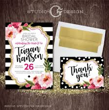 Baby Shower Invitations And Thank You Cards Kate Spade Inspired Bridal Shower Baby Shower Birthday Party