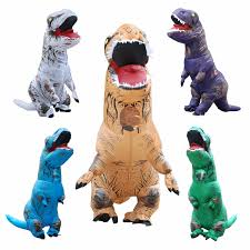 Inflatable Halloween Costumes Adults Rex Inflatable Costume Christmas Cosplay Dinosaur Animal