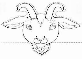 goat mask coloring page goat mask template pictures to pin on pinterest thepinsta