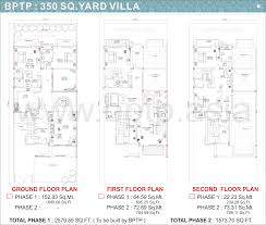 Villa Floor Plan by Bptp Parkland Villas Faridabad Floor Plans Bptp Villa Floor Maps