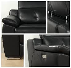 chelsea electric recliner 100 genuine leather lounge suite black