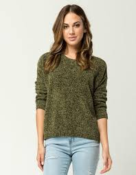 womens sweater others follow chenille womens sweater olive 311981531 tillys