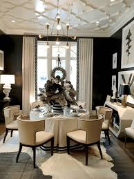 dining room molding ideas wall molding ideas round dark brown varnished wooden table antique
