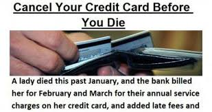 Credit Card Memes - cancel your credit card before you die meme collection