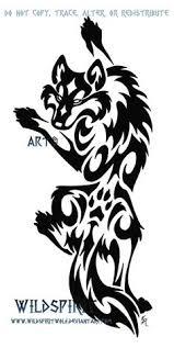 wolf tribal design tat tribal