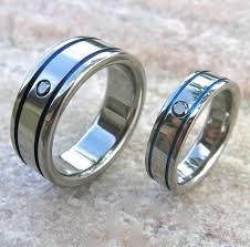 matching rings matching black diamond titanium band set stbd10 titanium rings