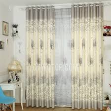 Rustic Country Curtains Rustic Style Gray Polyester Privacy Country Curtains Printed With