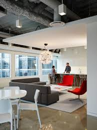 Pivot Interiors San Jose Quidco Office Looking Back Towards The Social Hub With Black