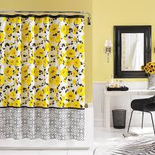 bathroom splendid black white curtains divider combine with
