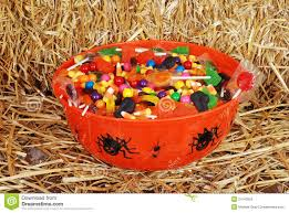 bowl of mixed halloween candy stock images image 21543554