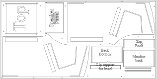 bartop arcade cabinet dimensions prepossessing arcade cabinet plans for your pacade bartop arcade