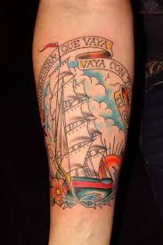Flag Tattoos Eagle Ship And Pirate Flag Tattoos On Back Photos Pictures And