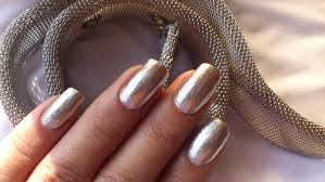 metallic silver nail polish showing off my nails d youtube