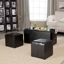 leather tray for coffee table amazon com hartley coffee table storage ottoman with tray side