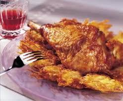 cuisiner cuisse de dinde cuisse de dinde et pommes de terre paillassons recette de cuisse