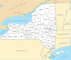 County Map Of Ny New York State County Map A Map Of New York State Counties