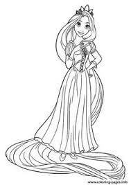 dibujos colorear enredados rapunzel su trenza