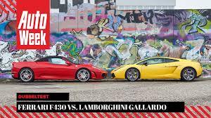 f430 vs lamborghini gallardo f430 lamborghini gallardo se autoweek occasion