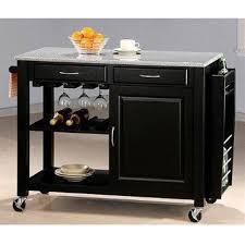 black kitchen island with granite top black kitchen island with granite top and wheels by coaster 5870