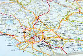 Rome Metro Map Road Map Of Rome Metro Rome Italy Aaccessmapscom Close Up Of An