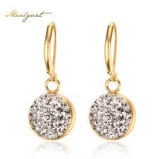 womens earrings meaeguet cz water drop earrings for women gold color
