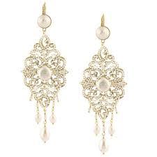 pearl chandelier earrings pearl and swarovski chandelier earrings by