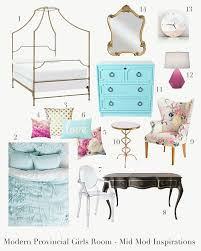 Teal And Gold Bedroom by Modern Provincial Girls Room Style Board Potter Barn Teen Canopy