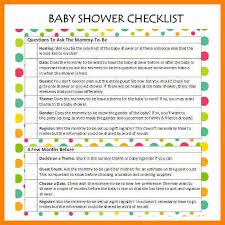 baby shower question 9 baby shower checklist pdf cover title page