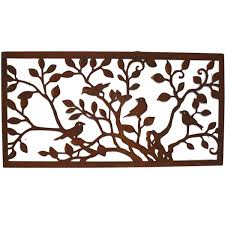 laser cut rust tree of with birds wall wall