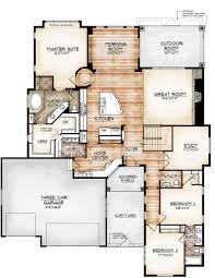 House Plans Single Level avon model by sopris homes main level plan floor plan wonders