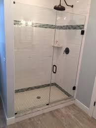 Single Frameless Shower Door Door And Panel Frameless Shower Door Medford Lakes Nj