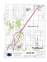 Route 66 Illinois Map by 2m Awarded For Sherman Williamsville Bike Hike Path News The