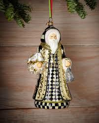 mackenzie childs turtledove santa ornament