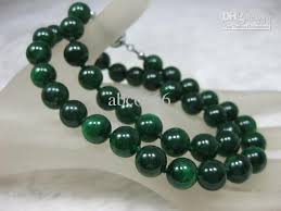 jade bead necklace images 2018 nature dark green jade jadeite 10mm bead necklace 18 5 from jpg