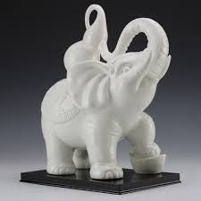 Elephant Statue Online Shop Chinese Dehua White Porcelain Ru Yi Cucurbit Wealth