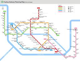 A Train Subway Map by Fuzhou Subway Map Metro Lines Stations