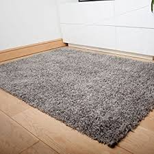 Grey Shaggy Rugs Super Soft Luxury Grey Shaggy Rug 5 Sizes Available 60cmx110cm
