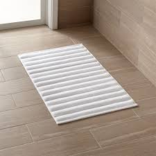 Bathroom Rugs And Mats White Bath Mat Crate And Barrel