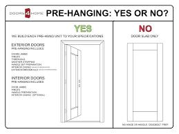 How To Hang An Exterior Door Not Prehung Pre Hung Front Door Hfer