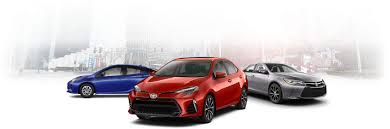 toyota line of cars fleet program toyota canada