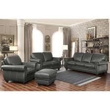 Leather Sofa And Armchair Kassidy Top Grain Leather Sofa Loveseat Armchair And Ottoman 4