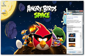 angry birds space windows 7 theme download