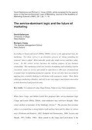 what is abstract in thesis the service dominant logic and the future of marketing pdf the service dominant logic and the future of marketing pdf download available